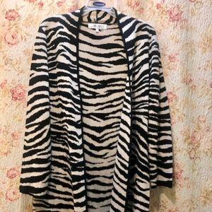 Knit Zebra Cardigan